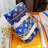 Onewel LV Louis Vuitton Phone Box chain phone bag gift box packaging colorful phone bag blue sky white Clouds