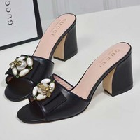 GUCCI Bee Women Fashion Slipper Sandals Shoes High Heels Shoes