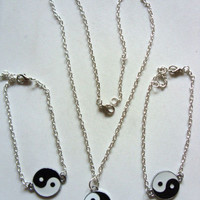 Cryptic Cult — yin yang pendant silver chain jewellery