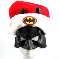 Batman Santa Hat Mask
