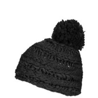 Slouchy Hand-Knitted Beanie - Black