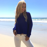 Bronco Blue Knit Sweater
