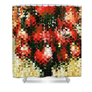 Modern Red Poppies - Pieces 4 - Sharon Cummings Shower Curtain