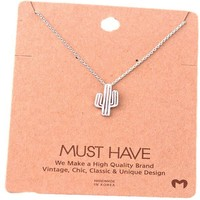 Must Have-Cactus Necklace, Silver