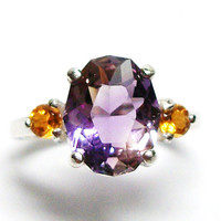 "Ametrine accent ring s 6  "" She loves me"""