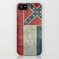 Mississippi State Flag, Distressed version iPhone & iPod Case by Bruce Stanfield