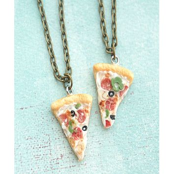 Supreme Pizza Friendship Necklace Set