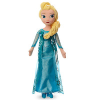 "Disney Store Frozen 20"" Elsa Plush Doll Medium New"