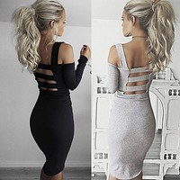 Slim Sling Backless Dress
