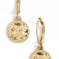 Women's Lonna & Lilly Etched Drop Earrings - Worn Gold