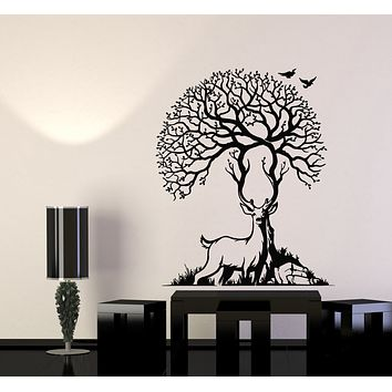 Vinyl Wall Decal Deer Animal Forest Beauty Nature Artiodactyls Hunting Stickers Mural (g3160)