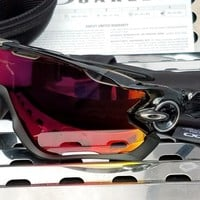 New Oakley JAWBREAKER 9290-08 Sunglasses Black Ink w/00 Red Iridium Polarized