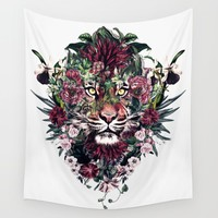 Tiger III Wall Tapestry by RIZA PEKER
