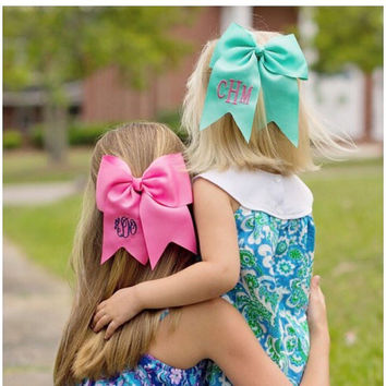 Girls Monogrammed Grosgrain Bow  Great for Easter and available in several colors