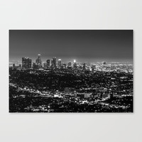Black and White Los Angeles Canvas Print by northskyphotography