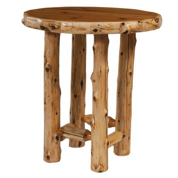 Cedar Round Pub Table with Standard Finish