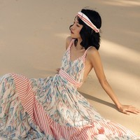 Since Then Backless Beach Bohemian Dress | Bohointernal.com