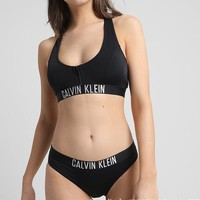 Calvin Klein Sport Yoga Zipper Bikini Set Swimsuit Swimwear