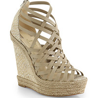 Christian Louboutin Tramontagne Leather & Cork Wedge Sandals