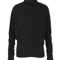 Amanda Wakeley Black cashmere polo neck top