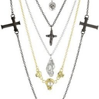 """CHRISHABANA """"Five-In-One Funeral"""" Plated Brass Necklace"""