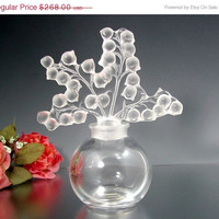 SALE Vintage LALIQUE CLAIREFONTAINE Perfume Bottle Lily of the Valley Glass France