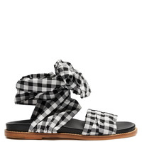 Wraparound gingham sandals | Marques'Almeida | MATCHESFASHION.COM UK
