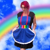 Rainbow Brite Apron Cosplay Costume Kawaii