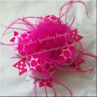 Pink Over The Top Boutique Bow