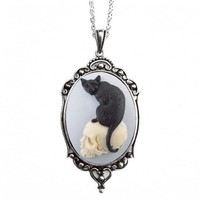 Cat Cameo Skull Necklace :: VampireFreaks Store :: Gothic Clothing, Cyber-goth, punk, metal, alternative, rave, freak fashions