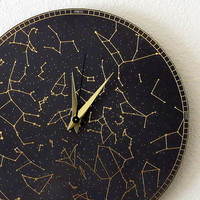 Unique Wall Clock, Home and Living, Constellation, Decor & Housewares, Wall Decor, Unique Gift