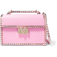 Valentino - Valentino Garavani The Rockstud small textured-leather shoulder bag