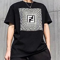 FENDI New Men Women Casual Print Short Sleeve T-Shirt Top