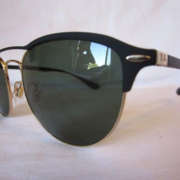 RAY BAN TECH SUNGLASSES RB3596 907671 TOP BLACK ON GOLD 54-19-145 NEW AUTHENTIC