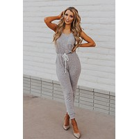 Easy To See Knit Jumpsuit (Heather Grey)