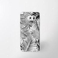 Samsung Galaxy Note 5 Case Clear Black and White iPhone 6 Case Samsung Galaxy Note 4 Case Samsung Galaxy S7 Case Tropical Leaves S6 Case
