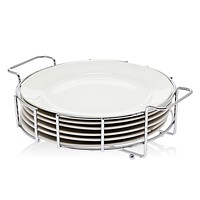 "Set 6 10-12"" Plates Metal Rack"