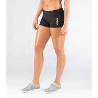 Women's Stay Cool DATA Training Short (ECo22)-Black/Mint - Compression Fit - //Fit Series - Women's