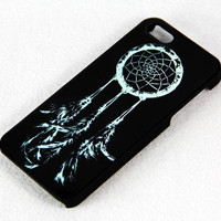 Teal And Black Dreamcatcher iPhone 5 Scrub Case