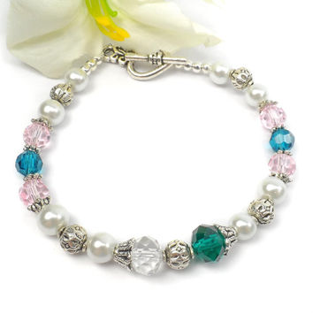 Family Birthstone Bracelet: Special Gift for Mothers Day