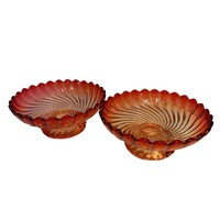 Pre-owned Rose Colored Baccarat Pedestal Compote - Pair