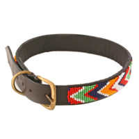 Maasai Beaded Leather Pet Collar