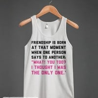 The Only One-Unisex White Tank