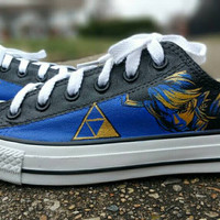 Zelda Hand Painted Canvas Lace Up Shoes