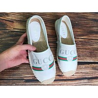 Gucci Hot Sale Woman Comfortable Print Shoes Fisherman Shoes Single Shoes