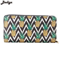 New Girls Pineapple Print Casual Women Wallet Large Capacity School Purse Ladies Fashion Long Clutch Female Cute Wallets