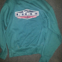 Vintage 80s-90s Green Hipster Nike Authentic Athletic Sweatshirt - Size Medium