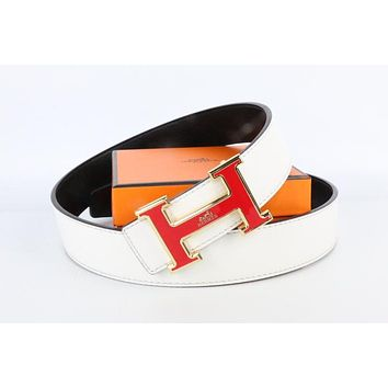 Hermes belt men's and women's casual casual style H letter fashion belt411