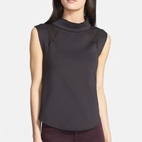 Trouve Funnel Neck Scuba Top