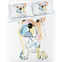 DENY Designs Home Accessories   Casey Rogers Bulldog Color Sheet Set